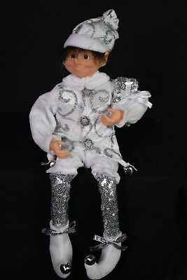 Santa's Little Helper. Silver elf Doll. 40cm
