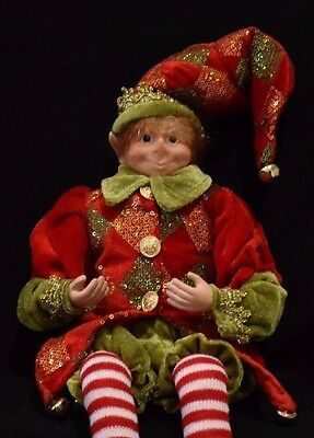 Elf Doll 46cm tall. Red and Green