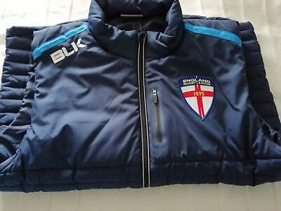 England Rugby League Players issue Gilet Leeds rhinos body Warmer coat jacket