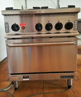 Goldstein 4 burner commercial gas oven stove cooktop