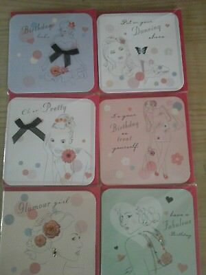 25 pritty ladies, wholesale joblot greeting cards