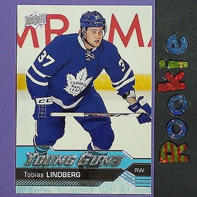 TOBIAS LINDBERG  RC  2016/17  UD  Young Guns  #234 YG ROOKIE Toronto Maple Leafs