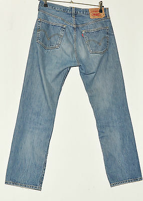 """Vintage Levi Strauss & Co 501 Jeans Trousers W 34"""" L 32 Faded Blue"""