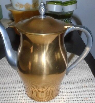WM Rogers and Sons Paul Revere Vintage Copper with Silver Metal Water/Pitcher