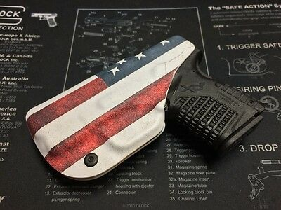 AMERICAN FLAG IWB KYDEX HOLSTER - for Springfield XDS 3.3 (9/40/45) Right Hand