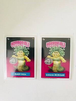 Horrible Kids Garbage Pail Kids 2018 Set Gorgon Morgan (37a) Madi Dusa (37b)