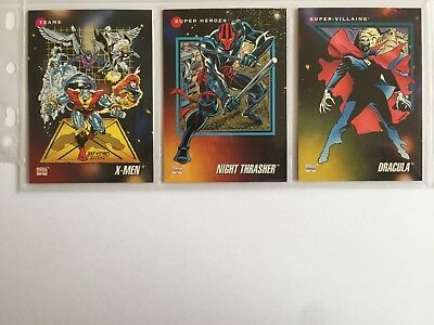 3 trading cards #59 #115 #179 marvel universe 1992 series 3 skybox impel
