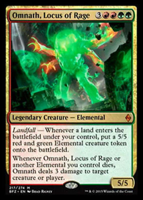 1x OMNATH, LOCUS OF RAGE - Rare - Battle - MTG - NM - Magic the Gathering