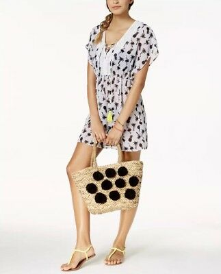 8ba3023646 MIKEN JUNIORS' PINEAPPLE-PRINT Lace-Up Cover-Up, Created for Macy's - XS -  NWT - $12.00   PicClick