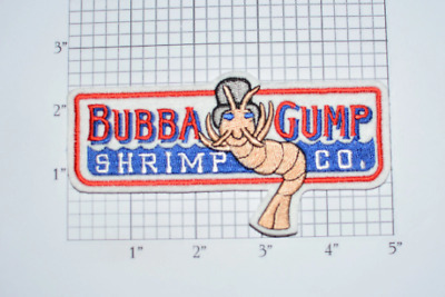 Bubba Gump Shrimp Company Iron-on Embroidered Patch Costume Cosplay Collectible