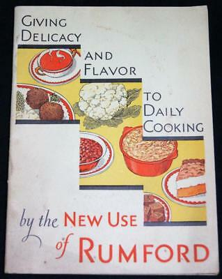 Rumford Baking Powder Recipes Advertising Brochure Guide 1931 Vintage Food
