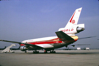 3 Slides For 1 Price Dc10 World Air,  L1011 Ata (N187At) &  B727 Western