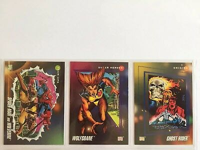 3 trading cards #29 #74 #167 marvel universe 1992 series 3 skybox impel