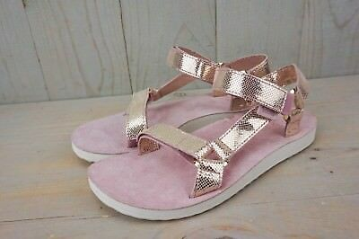 b8417e6e315e Teva Universal Radiant Metallic Rose Gold Pink Sandals Womens Us 7 New