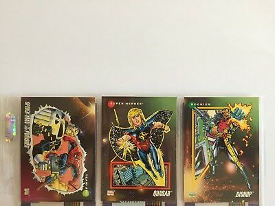 3 trading cards #2 #73 #146 marvel universe 1992 series 3 skybox impel