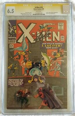 Xmen 20 Cgc Ss Signed By Stan Lee