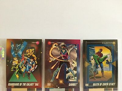 3 trading cards #4 #178 #197 marvel universe 1992 series 3 skybox impel