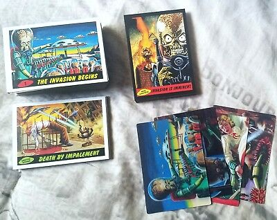2012 Topps Heritage MARS ATTACKS! Complete Base Set Subsets & 4 3-D Chase Cards