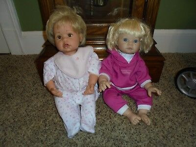 Gotz Baby Doll and Lee Middleton doll with stroller