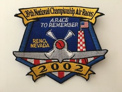 39th National Championship Air Races Reno Nevada 2002 Embroidered Patch, Unused