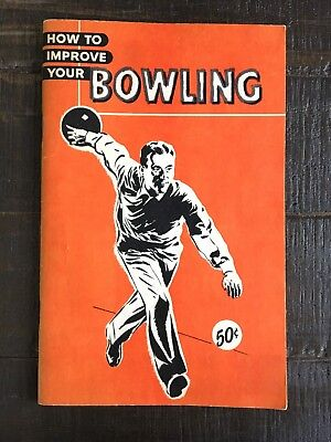 VINTAGE (1963) - Bowling Booklet - Retro Cool Weird Hip Rare Decoration Funny!