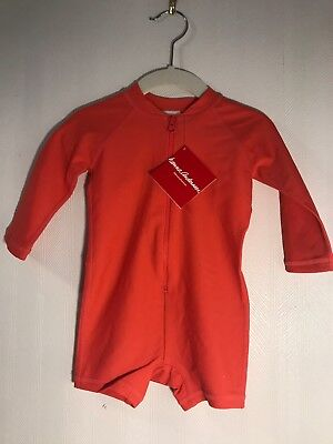 """NWT Hanna Andersson L/S Sunny Red """"Swimmy"""" Rash Guard Size 70 (6-12 m) OP $34"""