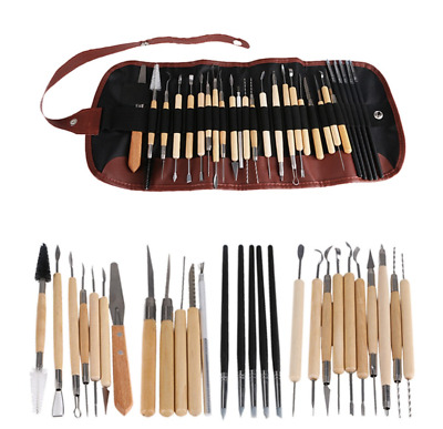 27 piece professional clay/pottery sculpting set complete with case