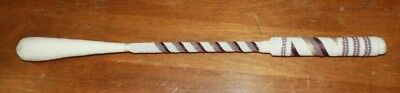 """Native American Beaded 19 1/2"""" Drum Beater Stick Purple/white Free Shipping"""