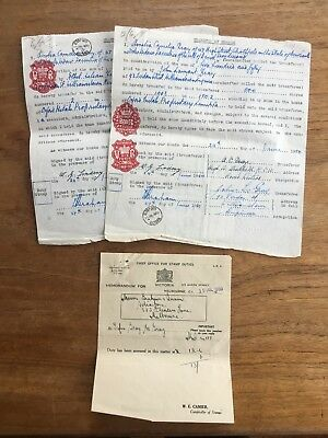 1950 3x OXFORD METALS P/L MELBOURNE TRANSFER OF SHARES DOCUMENTS EPEHEMERA P69