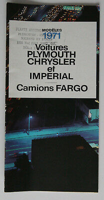 PLYMOUTH CHRYSLER IMPERIAL FARGO 1971 brochure - French - Canada - ST1002000318