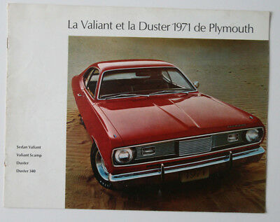 PLYMOUTH DUSTER VALIANT 1971 dealer brochure - French - Canada - ST1002000318