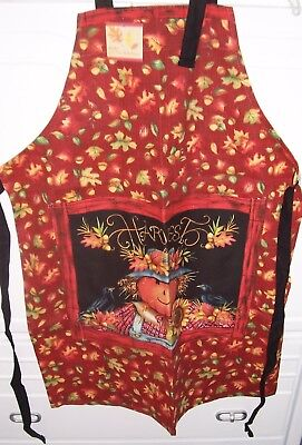Home For The Holidays Autumn Fall Pumpkin Fall Harvest Scarecrow Chefs Apron