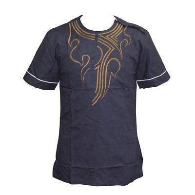 New Design Pan-African Vintage T-shirt Short Sleeve O-neck Smart Casual Top Tees