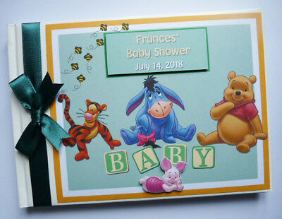 Disney Winnie The Pooh And Friends Birthday / Baby Shower Guest Book / Scrapbook