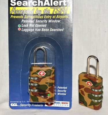 2 SearchAlert 3 dial combination Camo Camouflage TSA lock fits your luggage case