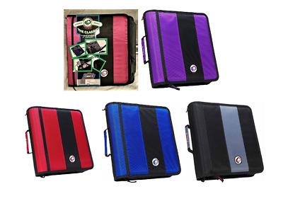 """Case-it The Classic 3 Ring Binder 2"""" Capacity Shoulder Strap, W-221, Pick Color"""