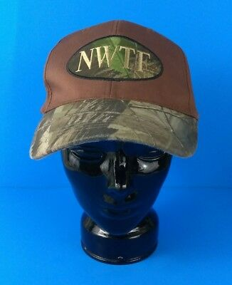 00b14873163 Men s National Wild Turkey Federation Camo Brown Hunting Baseball Hat  Adjustable