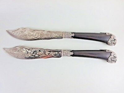 Christofle Cardeilhac France Silver & Ebony Ice Cream Two Slicer Server