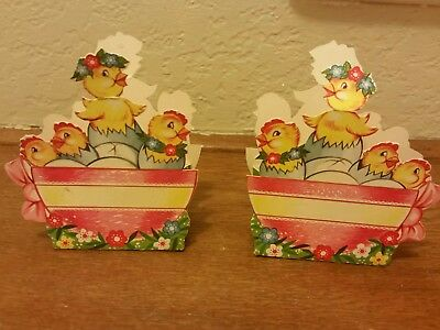 Vintage Easter candy container Copenhagen Denmark lot of 2