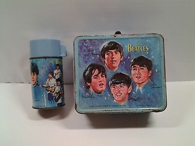 """Vintage """"BEATLES"""" 1965 -  Lunch Box & Thermos"""