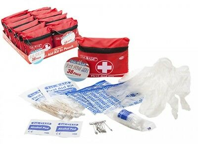 38 PIECE FIRST AID KIT 1st Travel Home Car Van Holiday Sport Bike Work Office