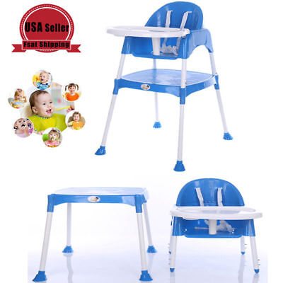 Baby Safety High Chair Dining Eat Feeding Seat With Belt Fastener Adjustable New