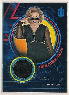 2016 Doctor Who Timeless Costume Relic Alex Kingston River Song Black Dress /99