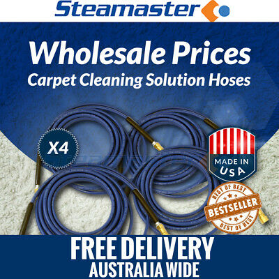 Carpet Cleaning Solution Hose 4 x **Solution Hose 3000PSI w Quick Couplings 15m