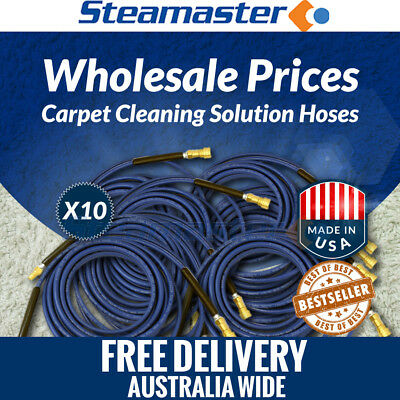 Carpet Cleaning Solution Hose 10 x Solution Hose 3000PSI w Quick Couplings 15m