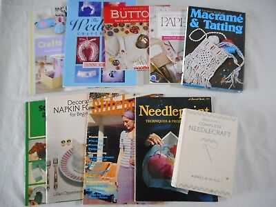 Bulk lot of Sewing and Craft books -total of 10 books Baby, Dolls Craft and more