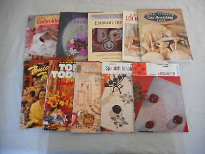 Bulk lot of Embroidery, Sewing, Beading and Craft books - A total of 10 books
