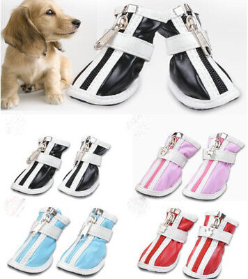 4PCS Pet Dog Waterproof Shoes  Puppy Anti Slip Protective Rain Boots Booties