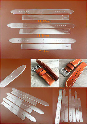 3set 3size Leather Craft Acrylic Fold Watch Strap Band Stencil Template Tool NEW