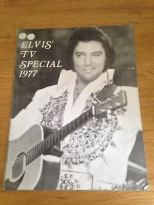 Elvis Presley Tv Special 1977 Cbs Booklet Sean Shaver
